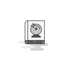 halloween book web icon flat line filled gray icon vector image
