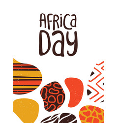 Happy africa day card tribal african art vector