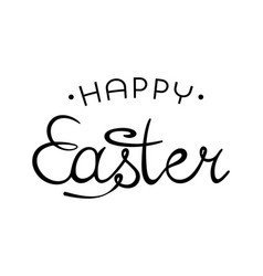 happy easter creative lettering hand drawn vector image