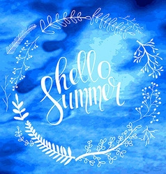 Hello summer card in vector image