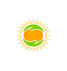 Help sun logo icon design vector