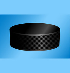 hockey puck on a blue vector image