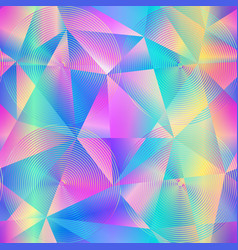Holographic triangle pattern vector