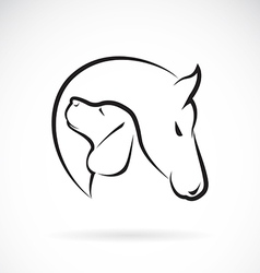 Horse and Dog vector image