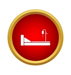 Hospital bed icon simple style vector image