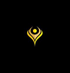 human successful health logo icon vector image