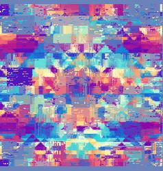 Image with imitation grunge datamoshing vector