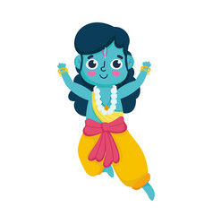 indian lord rama cartoon character traditional vector image