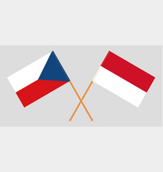 Indonesian and czech flags vector