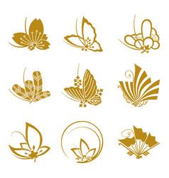 japanese-butterflies-01 vector image