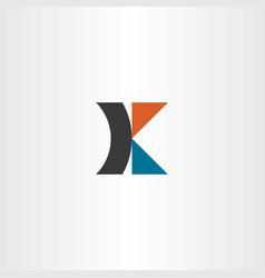 logotype letter icon k symbol vector image