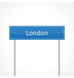London traffic sign vector image