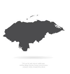 Map honduras isolated black vector