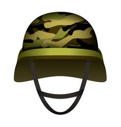 Modern design army helmet mockup realistic style vector