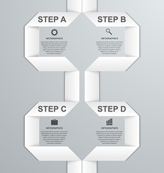 Modern infographic option banner with white paper vector