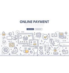 Online Payment Doodle Concept vector