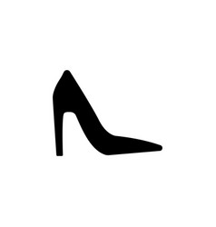 platform high heels shoes icon vector image