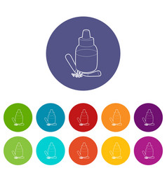 refill bottle and cigarette icon outline style vector image