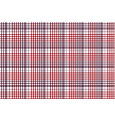 seamless check fabric texture tablecloth pattern vector image