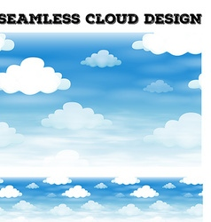 Seamless cloud on blue sky vector image