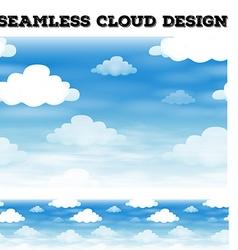 Seamless cloud on blue sky vector