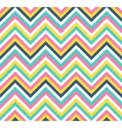 Seamless colorful chevron pattern vector image