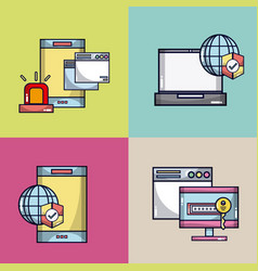 security system for electronic devices vector image