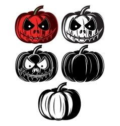set templat with different Halloween vector image