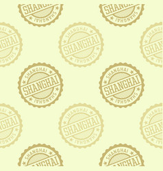 shanghai seamless pattern vector image