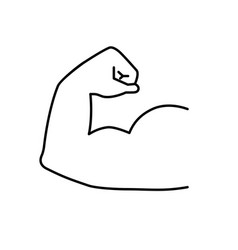 strong muscles icon arm muscle vector image