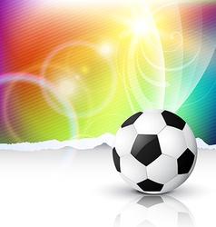Stylish football vector