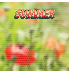 Summer made of geometrical shapes vector