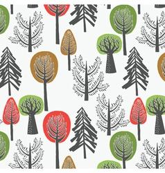 tree print design vector image vector image