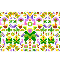 Tropical seamless print pattern bright trendy vector