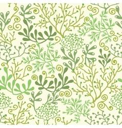 Underwater seaweed garden seamless pattern vector