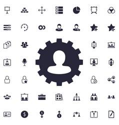 User gear icon vector