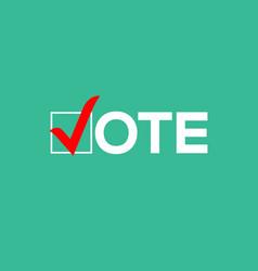 vote icon election sign vote check logo vector image
