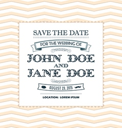 Wedding invitation yellow vector image