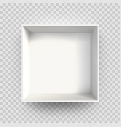 white box mock up 3d model 3d top view shadow vector image