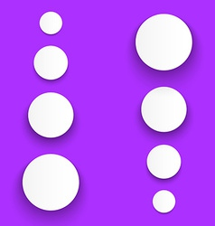 White Material Design Paper Buttons with Shadow vector image