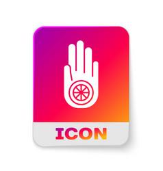White symbol jainism or jain dharma icon vector