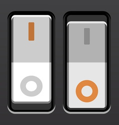 white toggle power switches vector image