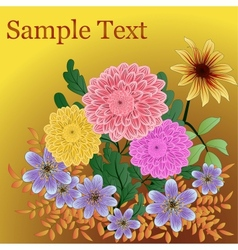 Background with garden flowers vector image