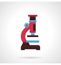 Colorful microscope flat color design icon vector image vector image