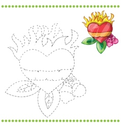 Connect the dots and coloring page vector image vector image