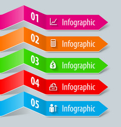 Infographic paper vector image