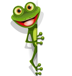 jolly green frog vector image