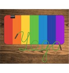Rainbow yoga mat vector