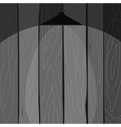 Wooden fence with a lamp vector