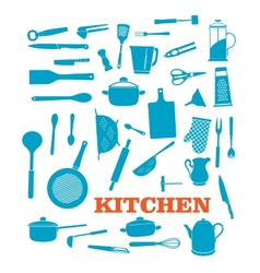 Kitchenware objects set vector